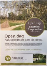 Open dag natuurbegraafplaats Heidepol 16 september 2017